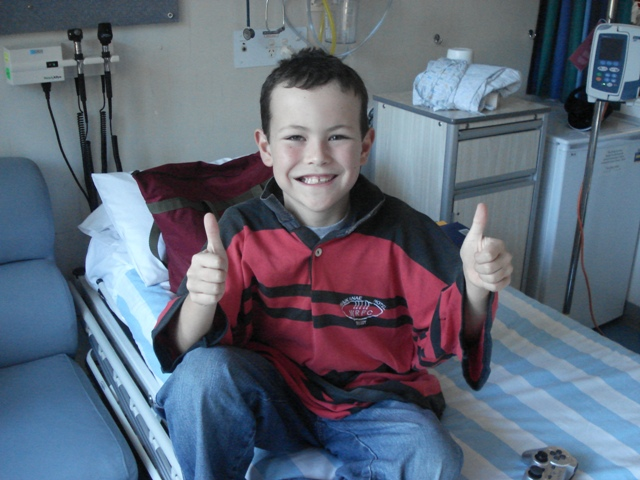 Liam in Matt's courage jersey